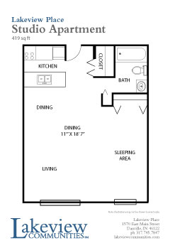 Senior Studio apartment